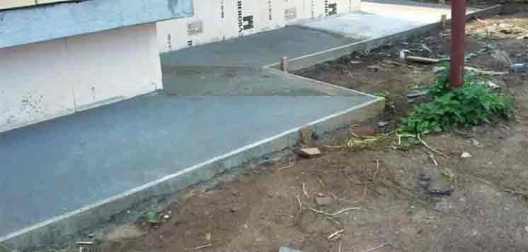 Отмостка и дорожки из бетона