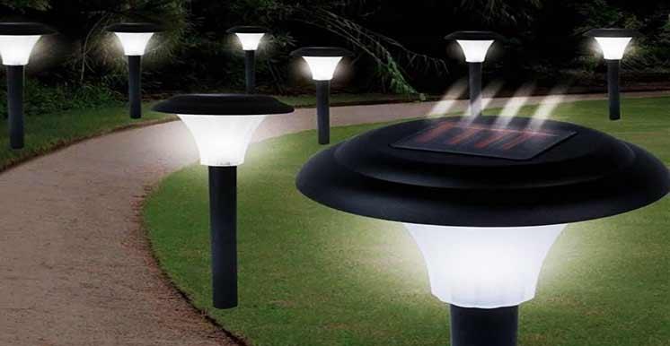Освещение дачного участка: автономные светильники на солнечных батареях