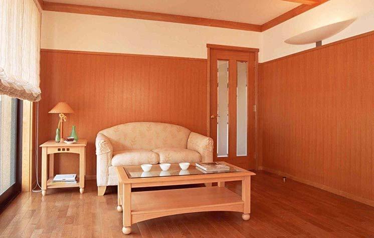 Вариант отделки спальни квартиры в оранжевом цвете