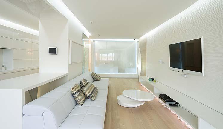 Вариант отделки квартиры в белом цвете